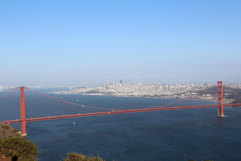 Golden gate bridge, San Francisco, California, U.S.A., panorama immagini stock libere da diritti