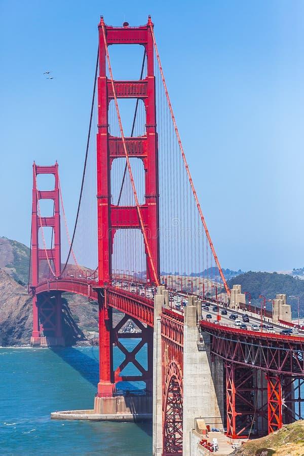 Golden Gate Bridge in San Francisco, California, USA stock photography