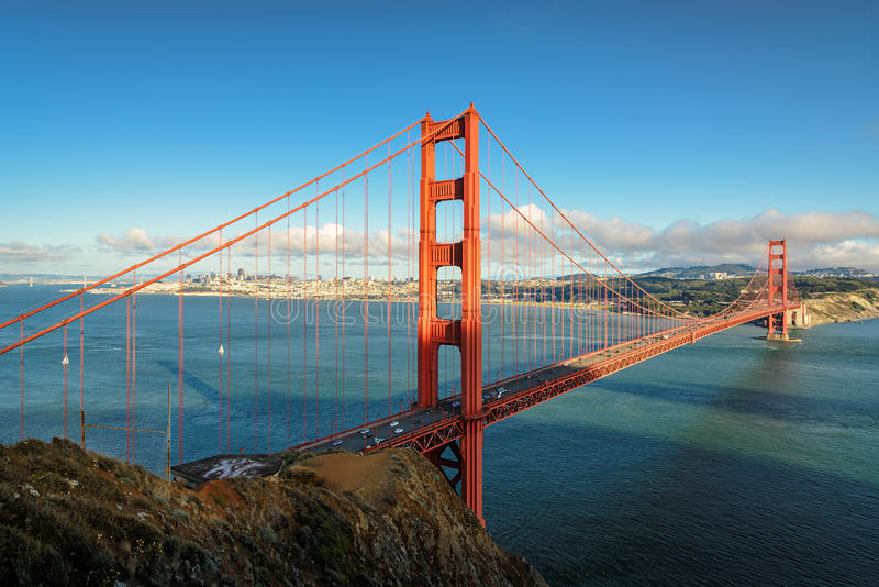 Golden Gate Bridge in San Francisco, California, USA. Golden Gate Bridge in San Francisco, California royalty free stock image