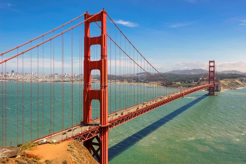 Golden Gate Bridge in San Francisco, California. USA stock images