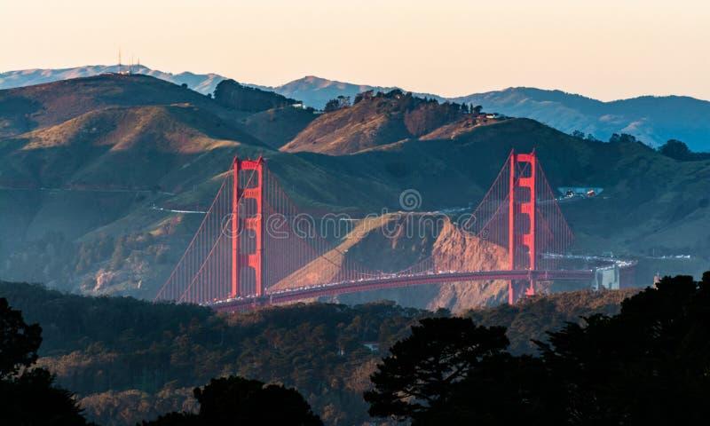 Golden gate bridge in San Francisco California USA lizenzfreie stockbilder