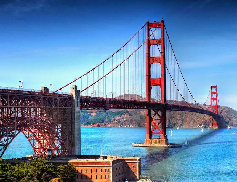 Golden gate bridge San Francisco, Kalifornien stockbilder