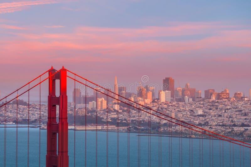Golden gate bridge in San Francisco, Kalifornien USA stockbilder