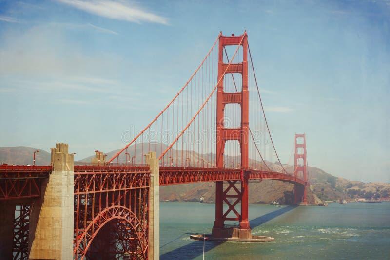 Golden Gate Bridge, San Francisco, USA. Retro filter effect. Set stock images