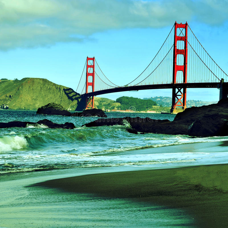 Golden gate bridge, San Francisco, Verenigde Staten stock afbeeldingen