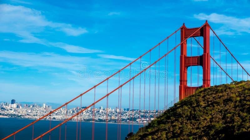Golden gate bridge in San Fransisco, Kalifornien lizenzfreie stockfotografie