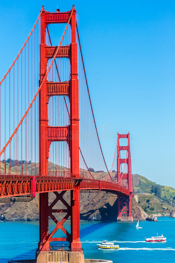 Golden Gate Bridge San Fransisco od Presidio Kalifornia zdjęcia stock
