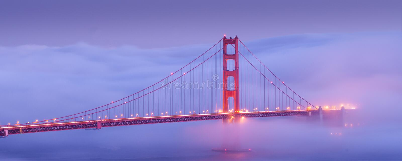 Golden Gate Bridge, San Fransisco, usa obraz royalty free