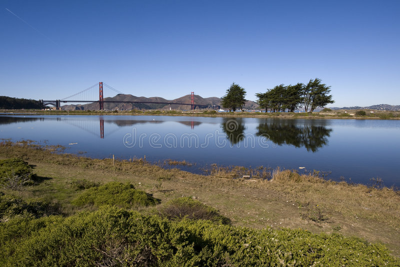 Golden Gate bridge scenic stock images