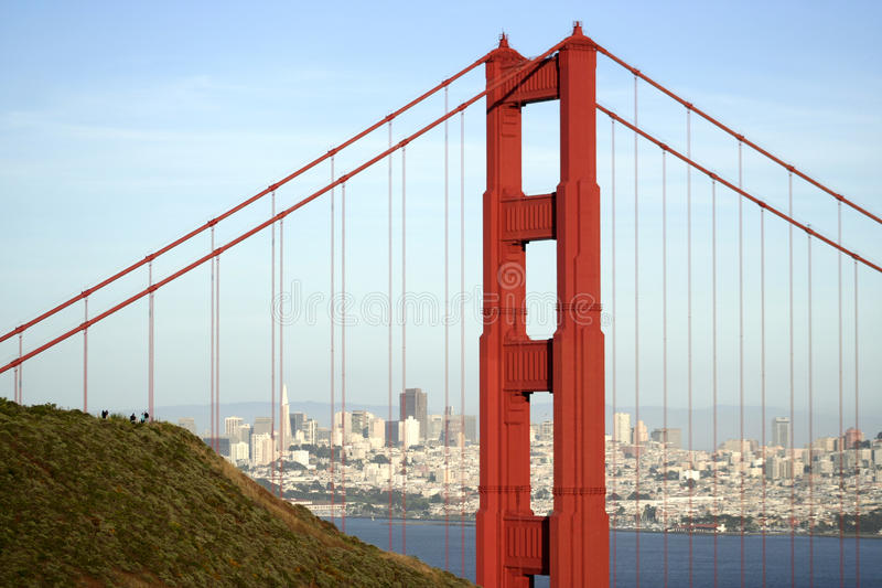 The Golden Gate Bridge and SF royalty free stock images