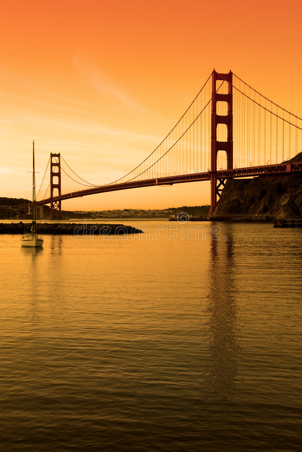 Free Golden Gate Bridge, SF Sunset Stock Images - 3518654