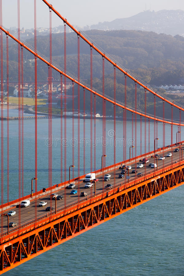 Golden gate bridge sikt royaltyfria bilder