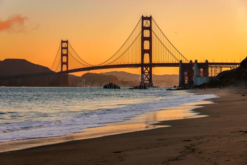 Golden Gate Bridge at sunrise, San Francisco royalty free stock photos