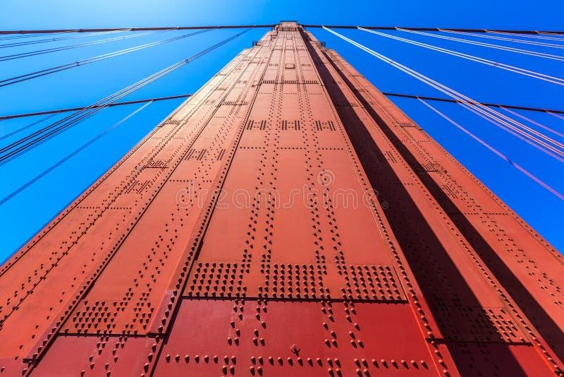 Golden Gate Bridge szczegóły w San Fransisco Kalifornia zdjęcia stock
