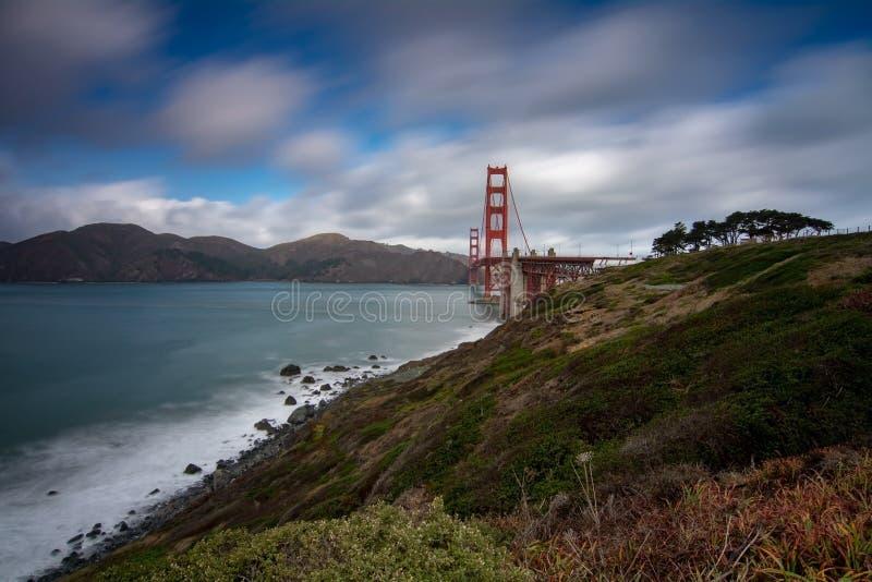 Golden Gate Bridge Tęsk ujawnienie zdjęcia stock