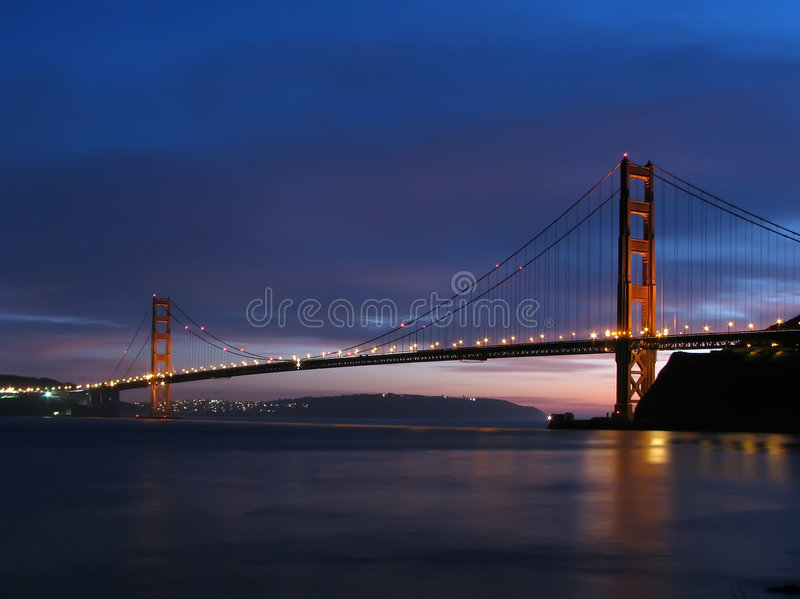 Golden Gate Bridge Twilight stock photos