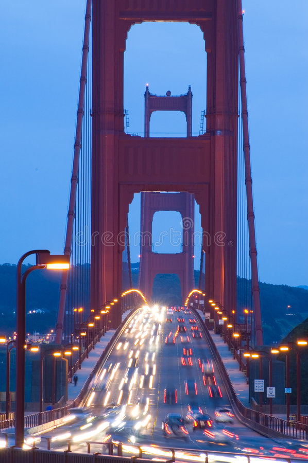 Golden Gate Bridge at twilight royalty free stock photography