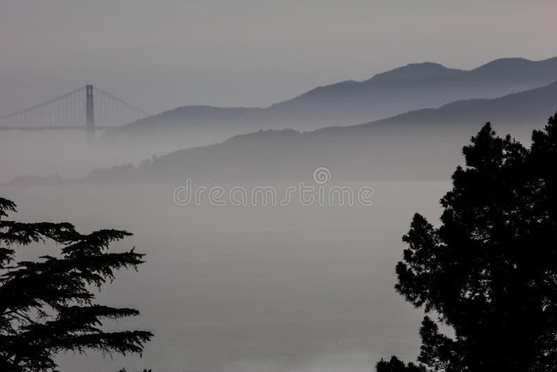 Golden gate bridge und Marin Headlands Landscape lizenzfreie stockfotos