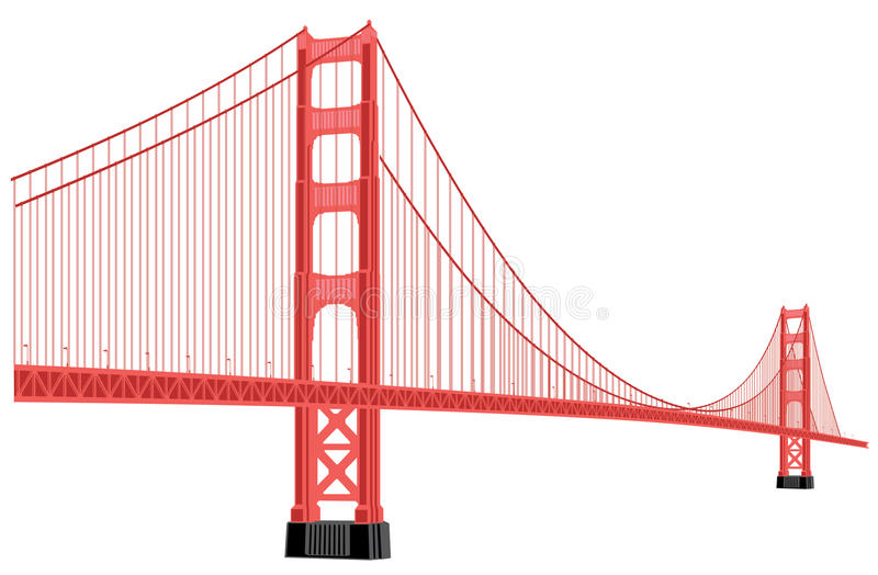 golden gate bridge stock illustration illustration of monument rh dreamstime com san francisco golden gate bridge clipart Golden Gate Bridge Illustration