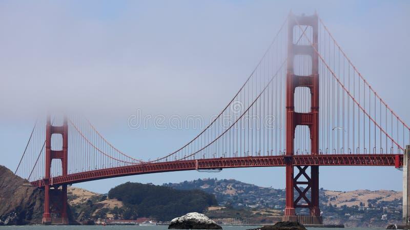 Golden gate bridge vom Bäcker Beach in San Francisco lizenzfreies stockfoto