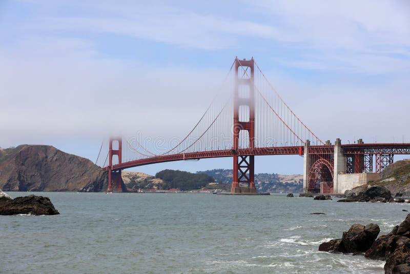Golden gate bridge vom Bäcker Beach in San Francisco lizenzfreie stockfotos