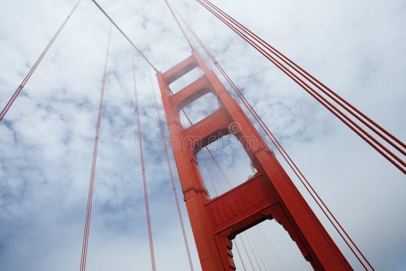 Golden Gate Bridge w ranek mgle, San Fransisco fotografia royalty free