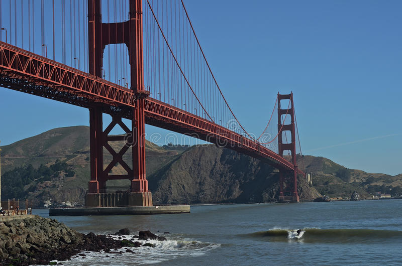 Golden Gate brug-Kerel die Mijn rit-San Francisco Landscapes is stock afbeelding