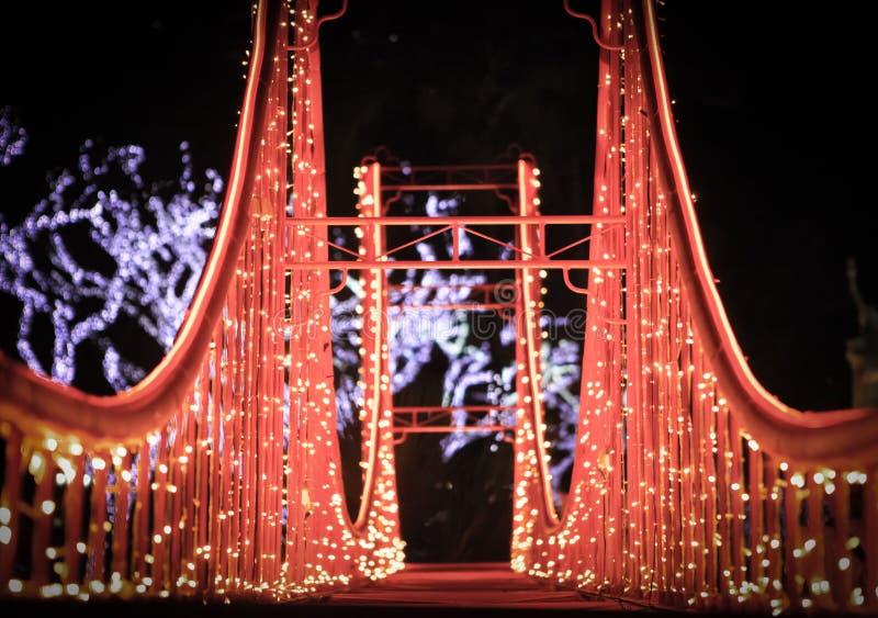 Golden Gate Christmas Replica royalty free stock photos