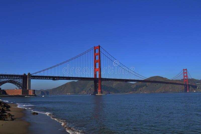 Golden Gate de San Fransisco en invierno imagen de archivo libre de regalías