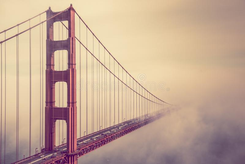 Golden Gate Into the Fog royalty free stock image