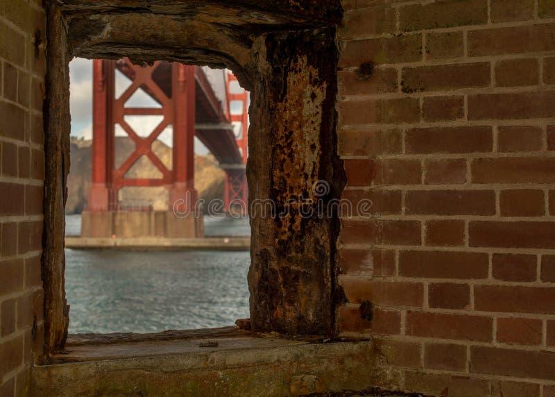 Golden Gate från fortpunkt royaltyfria bilder