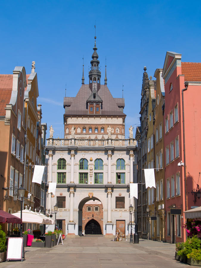 Golden gate, Gdansk, Poland. Golden gate in old town, Gdansk, Poland royalty free stock photos