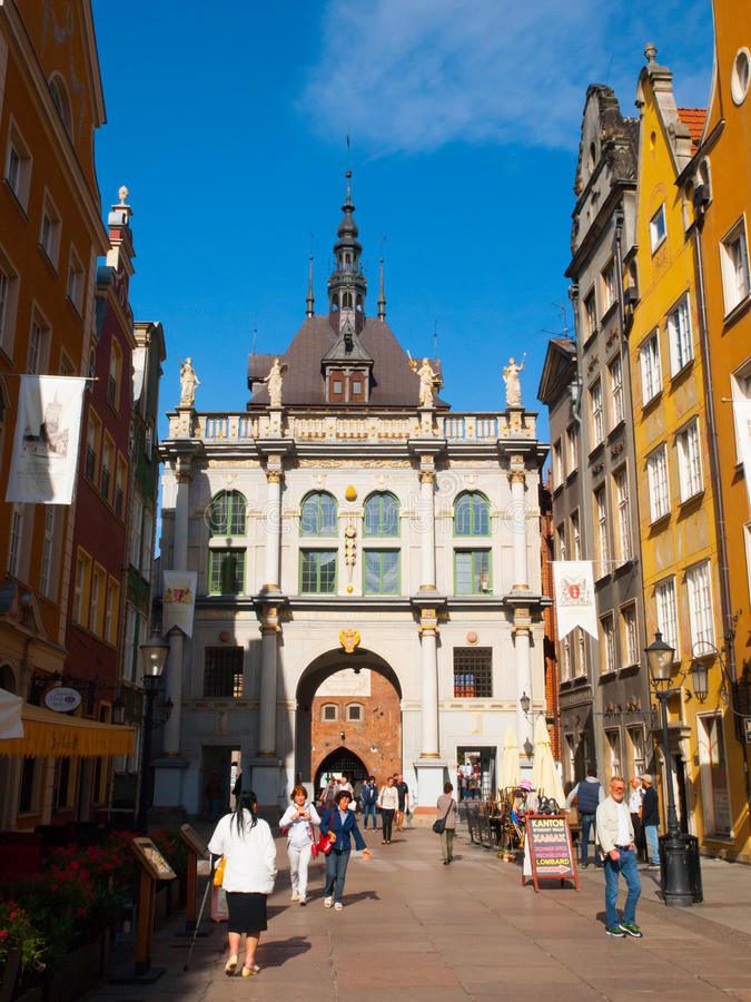 Golden Gate in Gdansk royalty free stock photography