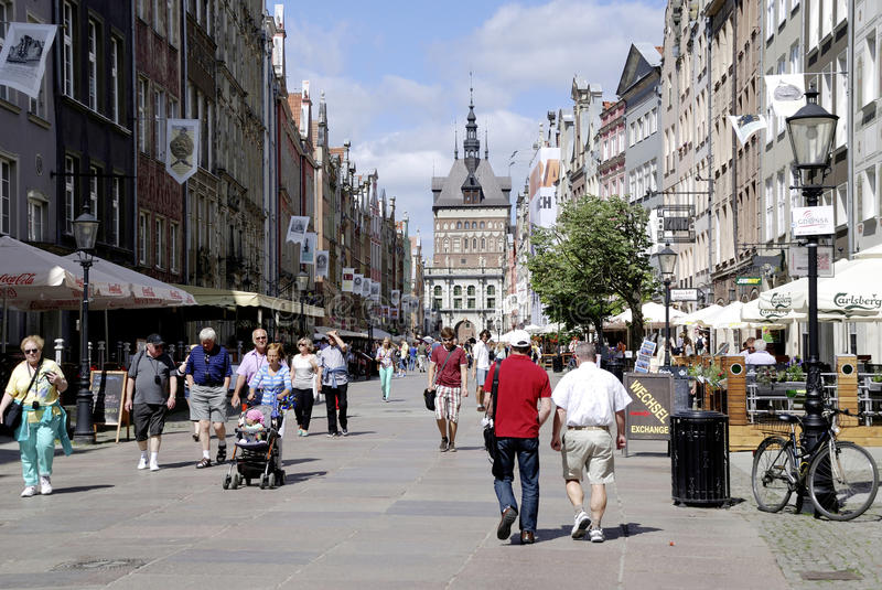 Golden Gate of Gdansk in Poland royalty free stock photo