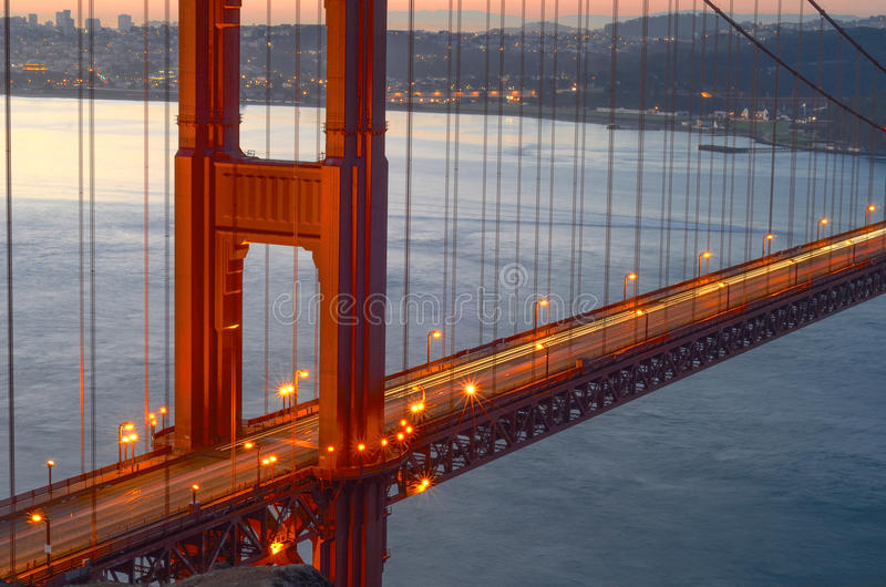Golden Gate gloed-San Francisco Landscapes stock foto's