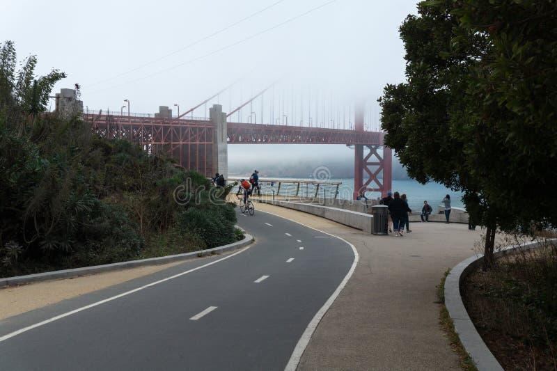 Golden Gate i den San Francisco synvinkeln arkivfoton