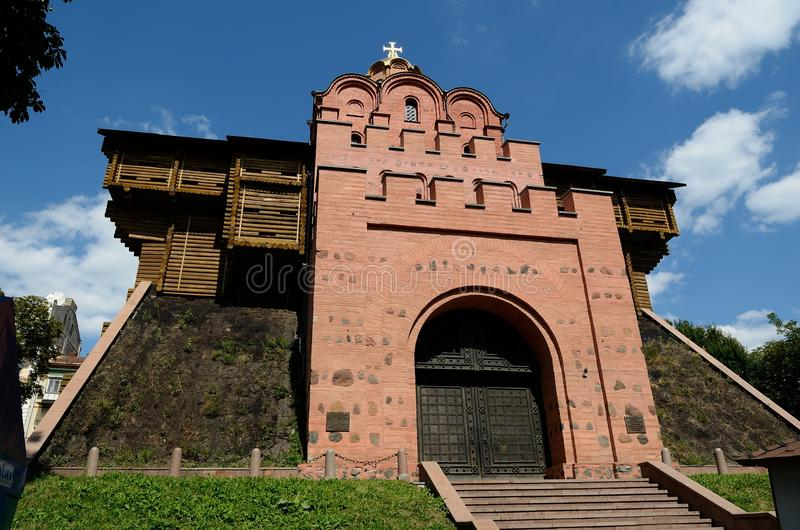 Golden Gate Kiev royaltyfri foto