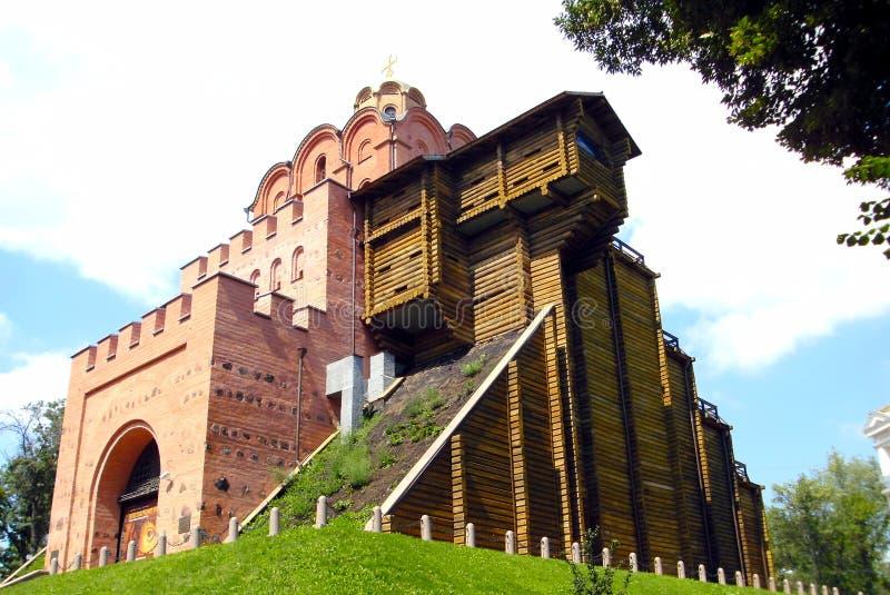 Golden Gate Kiev , Ukraine . Ancient medieval gate . royalty free stock photo
