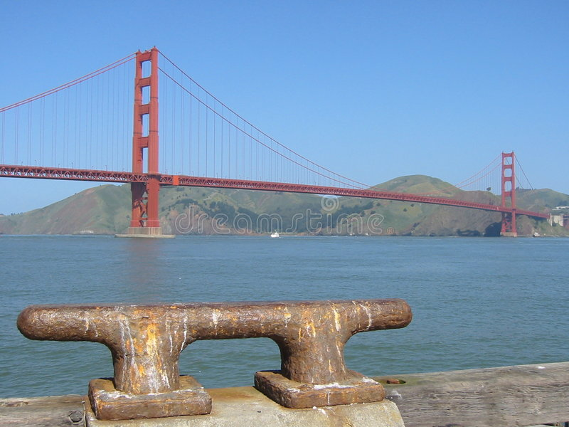 Download Golden gate mooring stock photo. Image of maritime, california - 206880