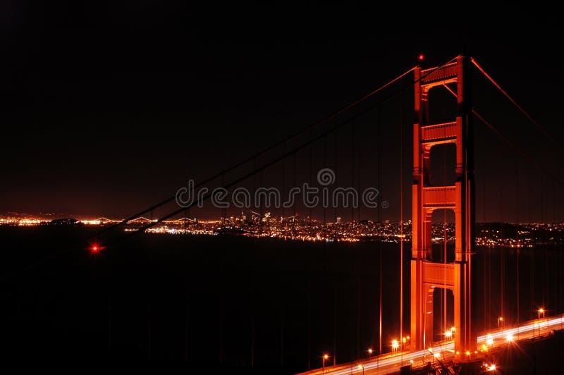 Golden Gate Night stock image