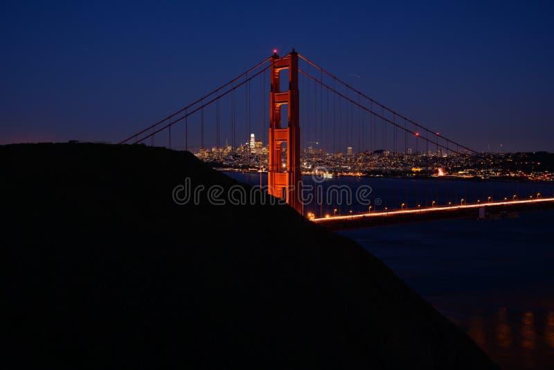 Golden Gate-Nordturm und Marin Headlands stockbild