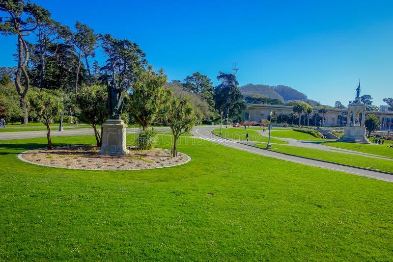 Golden Gate Park hermoso en San Francisco, el quinto la mayoría del parque visitado de la ciudad en los Estados Unidos imágenes de archivo libres de regalías