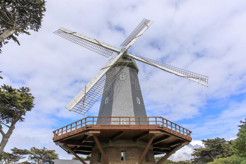 Murphy Windmill South Windmill in the Golden Gate Park in San Francisco, California, USA. stock photos