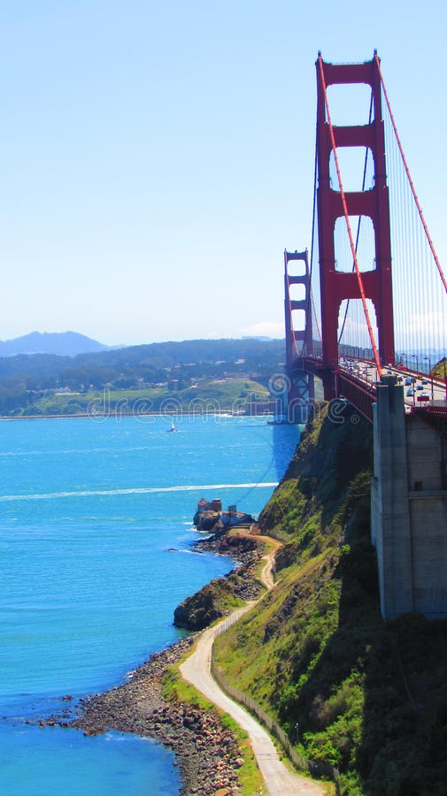 The golden gate royalty free stock photos