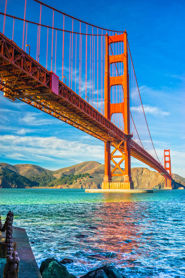 Golden Gate, San Francisco, la Californie, images stock