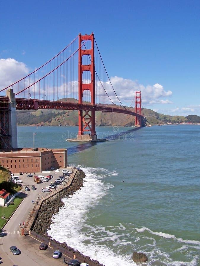 Download Golden Gate-SF stock image. Image of waves, golden, rocks - 1535859