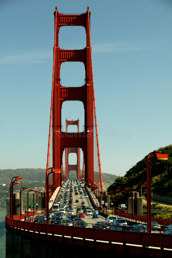 Golden Gate Traffic stock photography