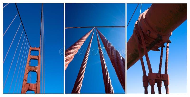 Golden Gatekompilation stockbilder