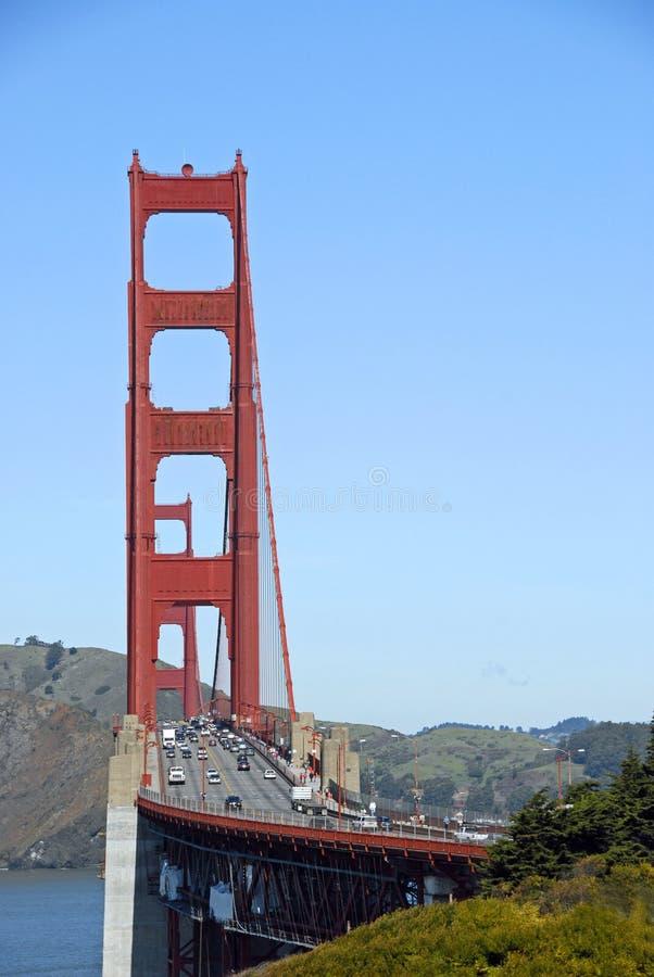 Golden- Gateverkehr stockbild