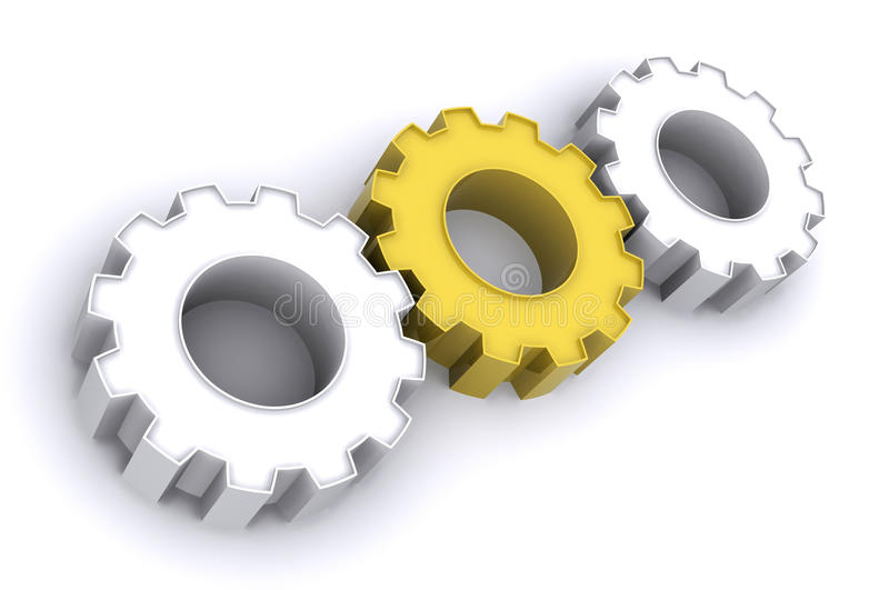 Download Golden Gears stock illustration. Image of icon, choice - 10809326